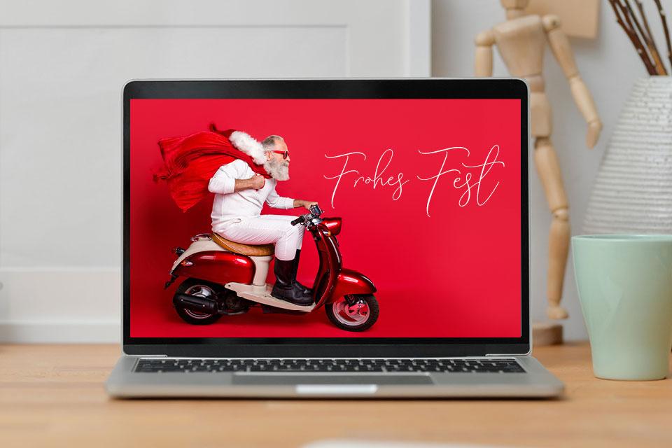 Grafik-Design Beispiel - Weihnachtskarte Gestaltung